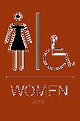 Women's Accessible ADA Restroom Sign