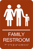 Family Restroom ADA Sign
