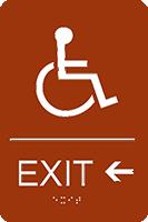 Exit Left ADA Sign