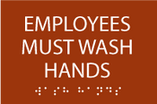 Employees Must Wash Hands ADA Sign
