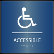 Curved ADA Accessible Sign
