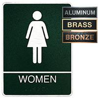 Women's ADA Restroom Plaque