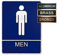 Men's ADA Restroom Metal Plaque
