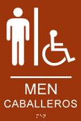 Men's Spanish ADA Restroom Sign