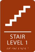 Stair Level 1 ADA Sign