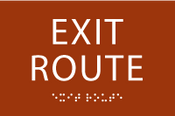 Exit Route ADA Sign