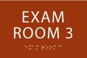 Exam Room 3 ADA Sign