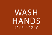 Wash Hands ADA Sign