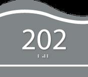 Custom Wave ADA Room Number Sign
