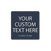 Custom Square ADA Sign