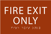 ADA Fire Exit Only Sign