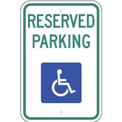 Handicap Reserve Parking Sign