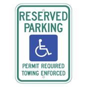 Arkansas Handicap Reserved Parking Sign