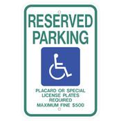 Hawaii Handicap Reserved Parking Sign