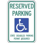 Washington Handicap Reserved Parking Sign