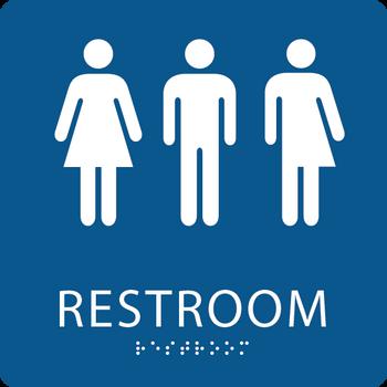 Gender Neutral ADA Restroom Sign ADA Central Signs - Ada unisex bathroom sign