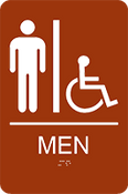 Men's Accessible ADA Sign
