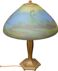 SOLD Jefferson Reverse Painted Ice Chip Table Lamp – Large
