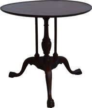 2949 Mahogany Chippendale Unusual Parlor Stand