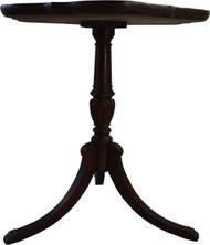 SOLD Mahogany Pie Crust Duncan Phyfe Stand