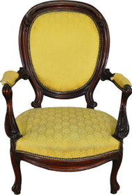 17240 Victorian Walnut Gents Chair
