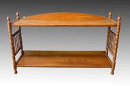 SOLD Oak Hanging Dainty Spindle Shelf