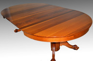 17232 Victorian Mahogany Claw Foot Split Base Banquet Dining Table