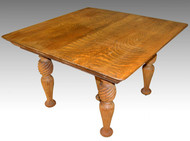 17128 Tiger Sawn Oak Dining Table - Fluted Legs
