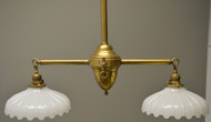SOLD Ceiling Double Pendant Shade Lamp