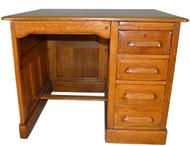 17152 Oak Raised Panel Flat Top Desk - Restored