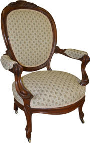 SOLD Victorian Grape Carved Arm Chair Civil War Era