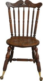 SOLD Carved Claw Foot Desk Chair