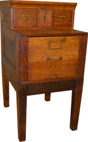SOLD Oak Sectional File Cabinet by Library Bureau