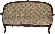 17329 Victorian Rope Carved Unusual Sofa
