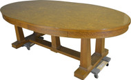 19539 Tiger Sawn Oak Oval Conference Table – 8 FEET LONG!