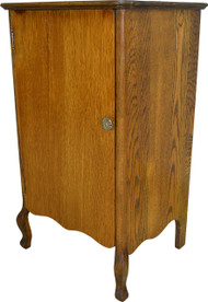16990 Oak Tiger Sawn Record Cabinet