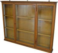 SOLD Hanging Oak Display Cabinet