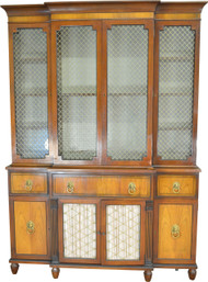 19545 Large Breakfront Cabinet by Kittinger