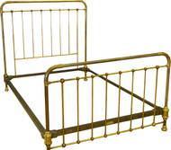 17354 Antique Full Size Brass Bed