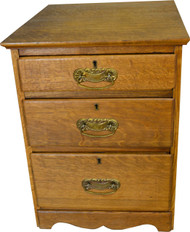 17418 Oak Three Drawer Night Stand