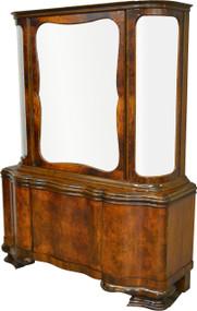 17408 Burl Walnut Bevel Glass China Cabinet