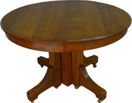 17404 Mission Round Oak Dining Table