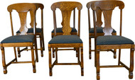 17362 Set of 6 Empire Oak Dining Chairs