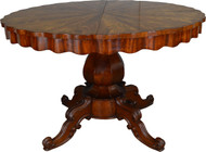 17430 Empire Flame Mahogany Tilt Top Kitchen Table -Oversized Stand Period