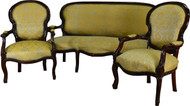 17383 Victorian Three Piece Parlor Set