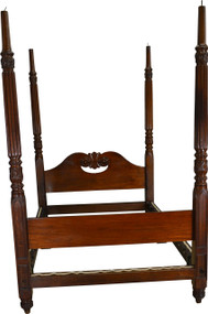 17409 Period Mahogany Carved Canopy Bed – Civil War Era