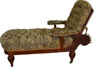 SOLD Oak Morris Chaise Reclining Lounge Rare