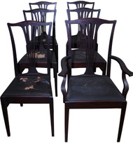 18255 Set of 6 Mahogany Dining Chairs