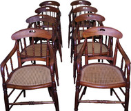18266 Set of 8 Walnut Arm Chairs – Very Rare