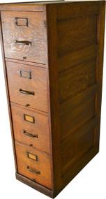 17472 Four Drawer Oak File Cabinet